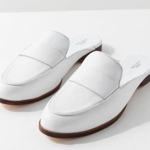 UO Jules Leather Loafer Mule 7 NEW